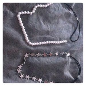Pearl and star headbands